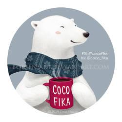 Sticker Illustration for Coco Fika