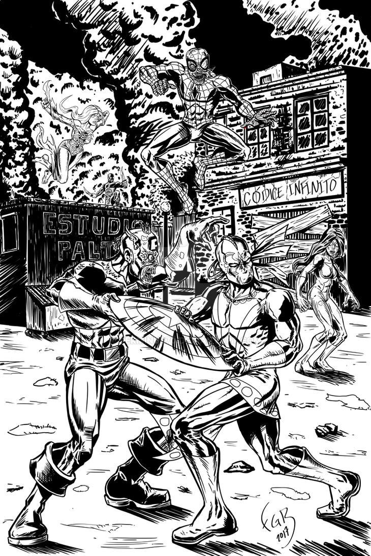 xiuhcoatl vs marvel zombies by terminus70