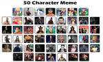 My Top 50 Favourite Characters Meme