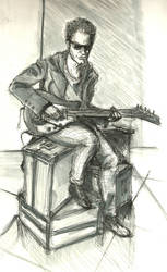 The doctor playing guitar by Methiston