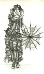 Steampunk girl by Methiston