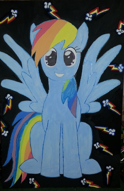 Rainbow Dash Painting by michelleann31