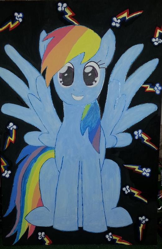 Rainbow Dash Painting by michelleann31