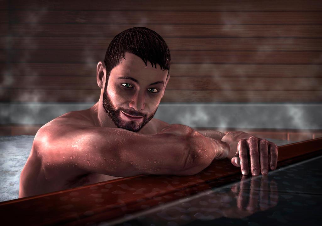 Hot Tub - Gawking Series by Midnight-Blackened