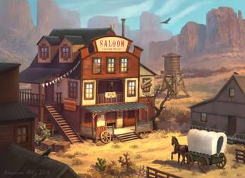 wild west tavern by Neskvik