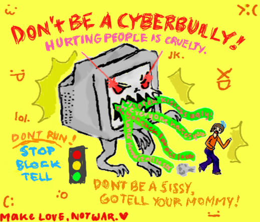 Cyberbullying Slogan - School by Xionen on DeviantArt