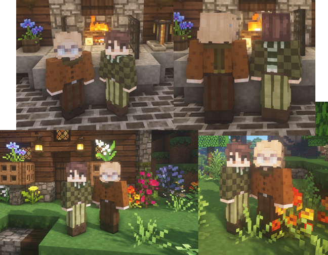 Frog and Toad outfit bases ~ Minecraft Skin