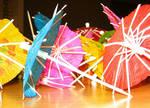 Umbrellas Close-up -- Stock
