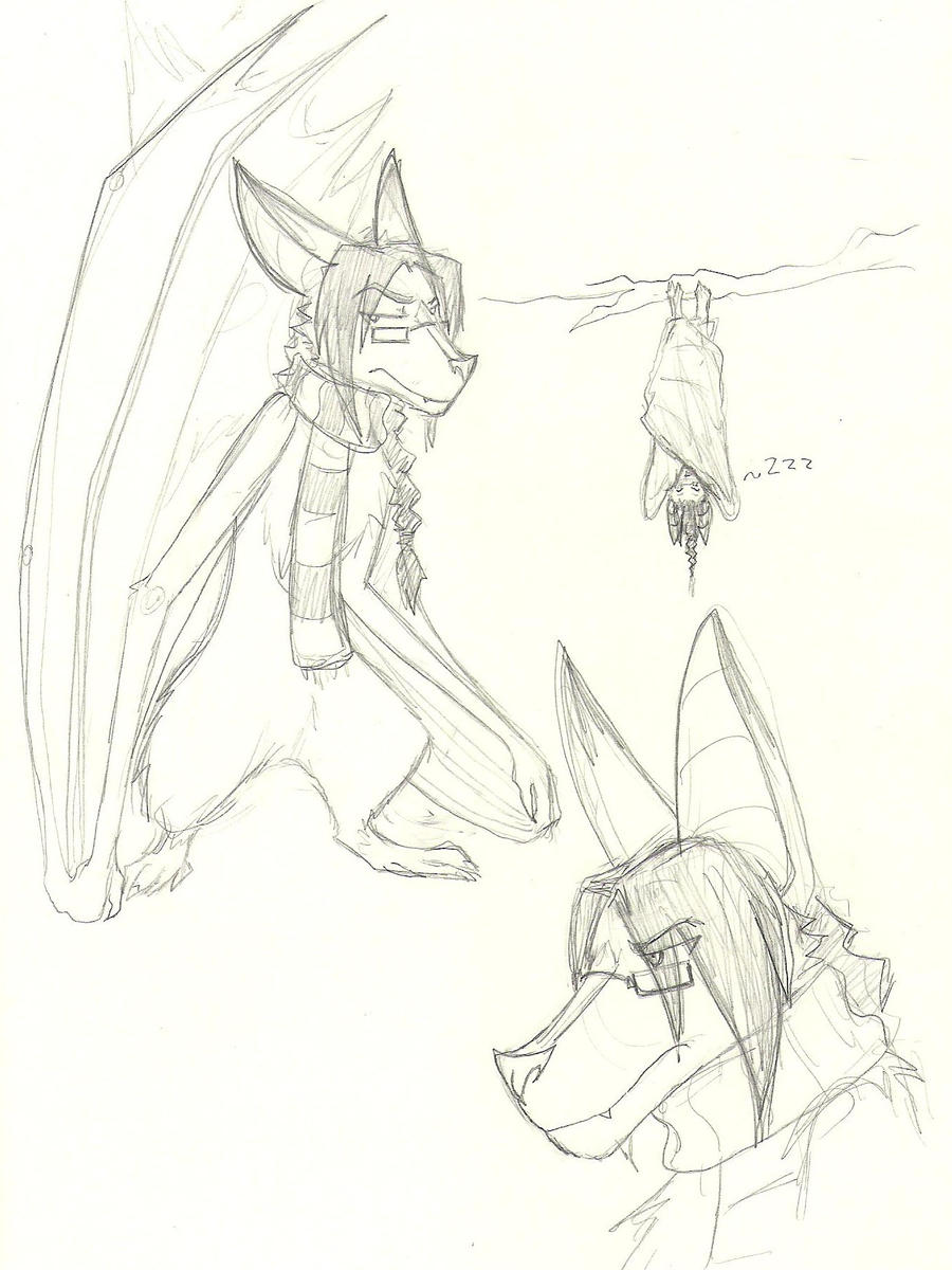 Bat!Dean doodles... by Lost-in-Legends