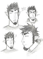 Killian Doodles and Ref by Lost-in-Legends
