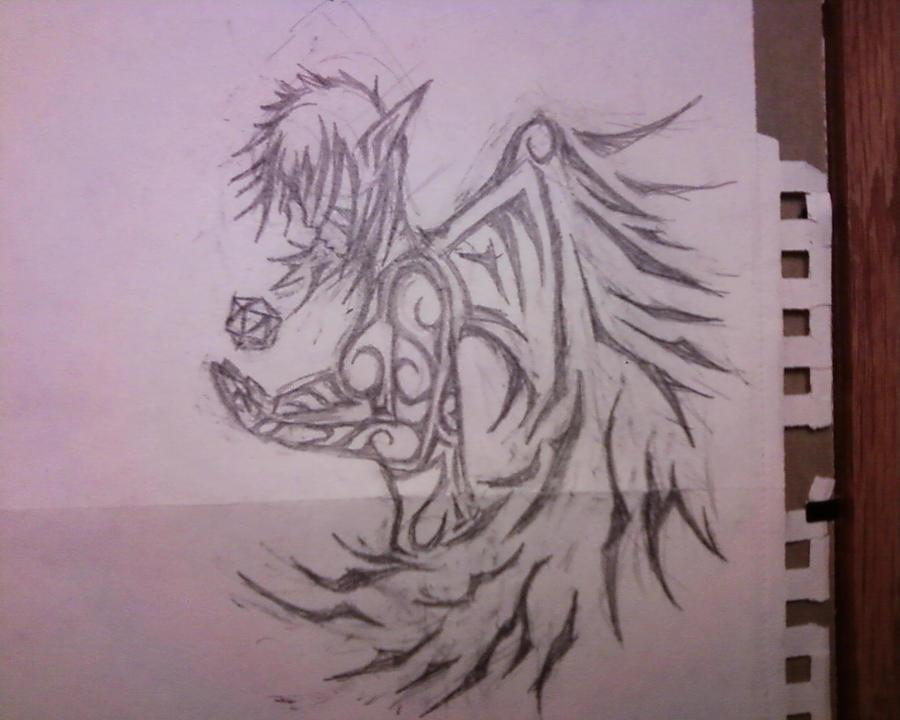 d20 angel Tribal design 1 by SidekickMike on deviantART