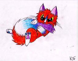 Josie likes to nom her tail :3
