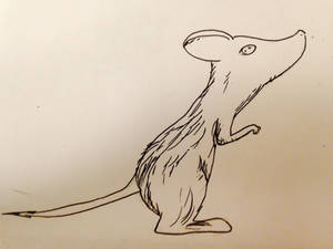 Inktober Day 26 (aka ugly mouse thing i guess)