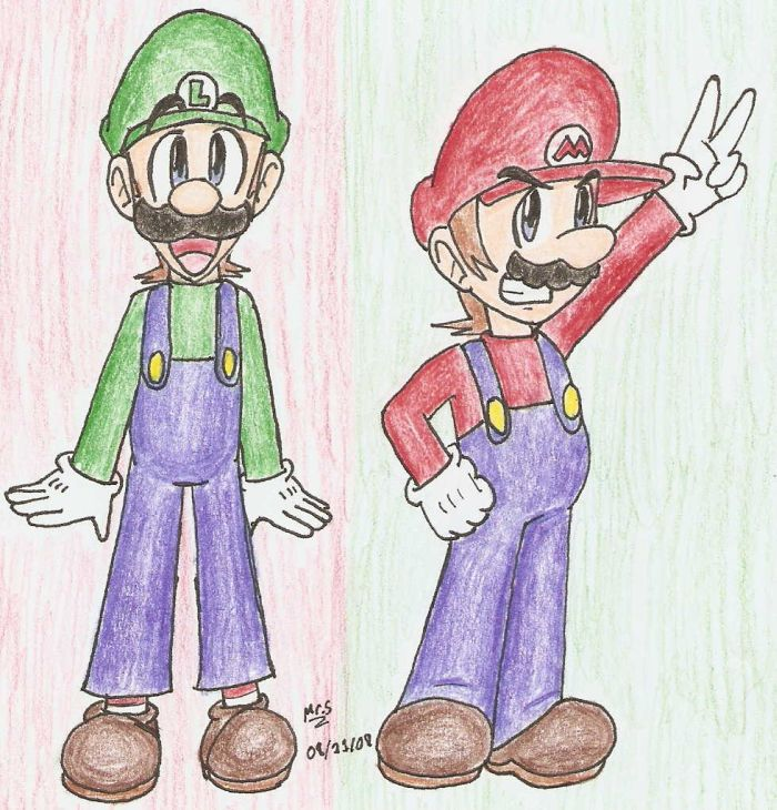 Mario Bros. by Mister-Saturn