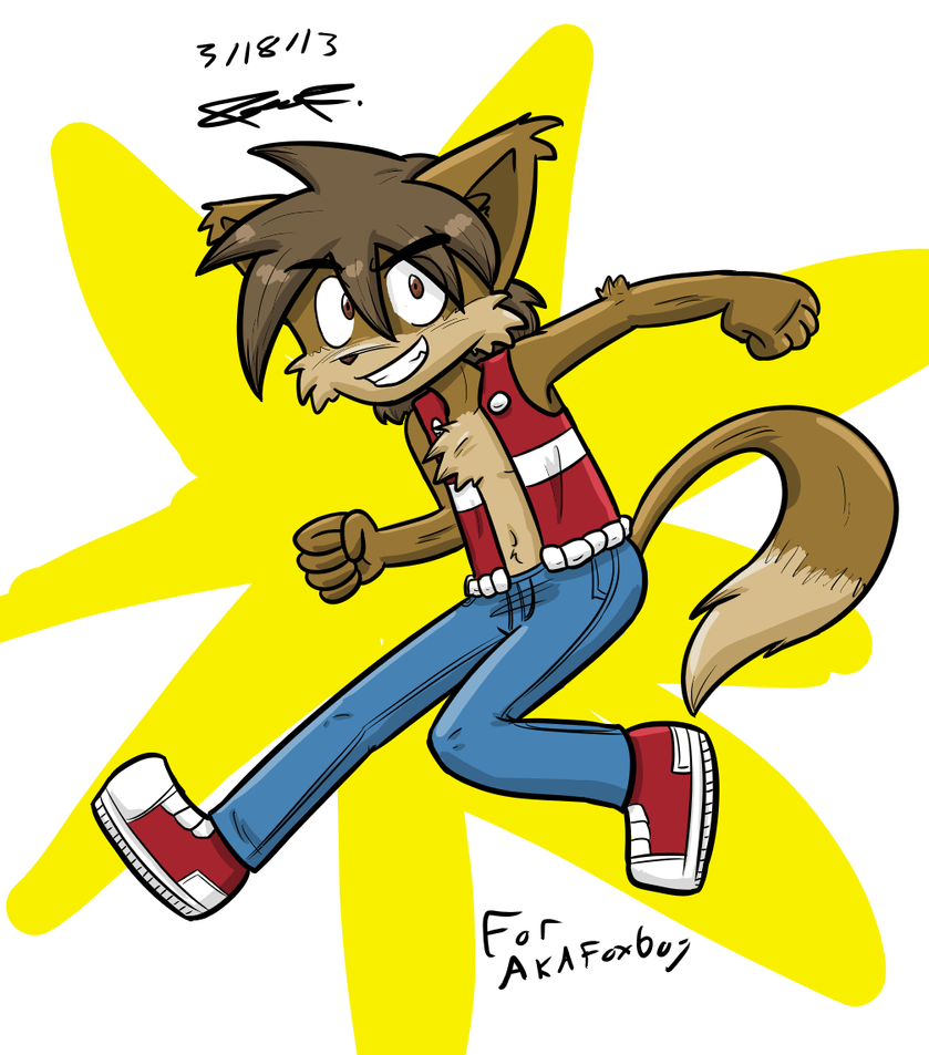 Art Trade With Akafoxboy by Mister-Saturn