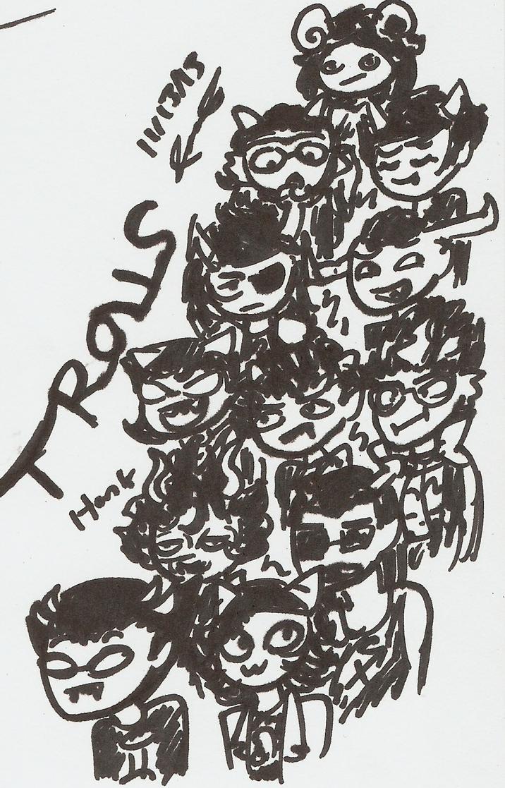 Tiny Sharpie Trolls by Mister-Saturn