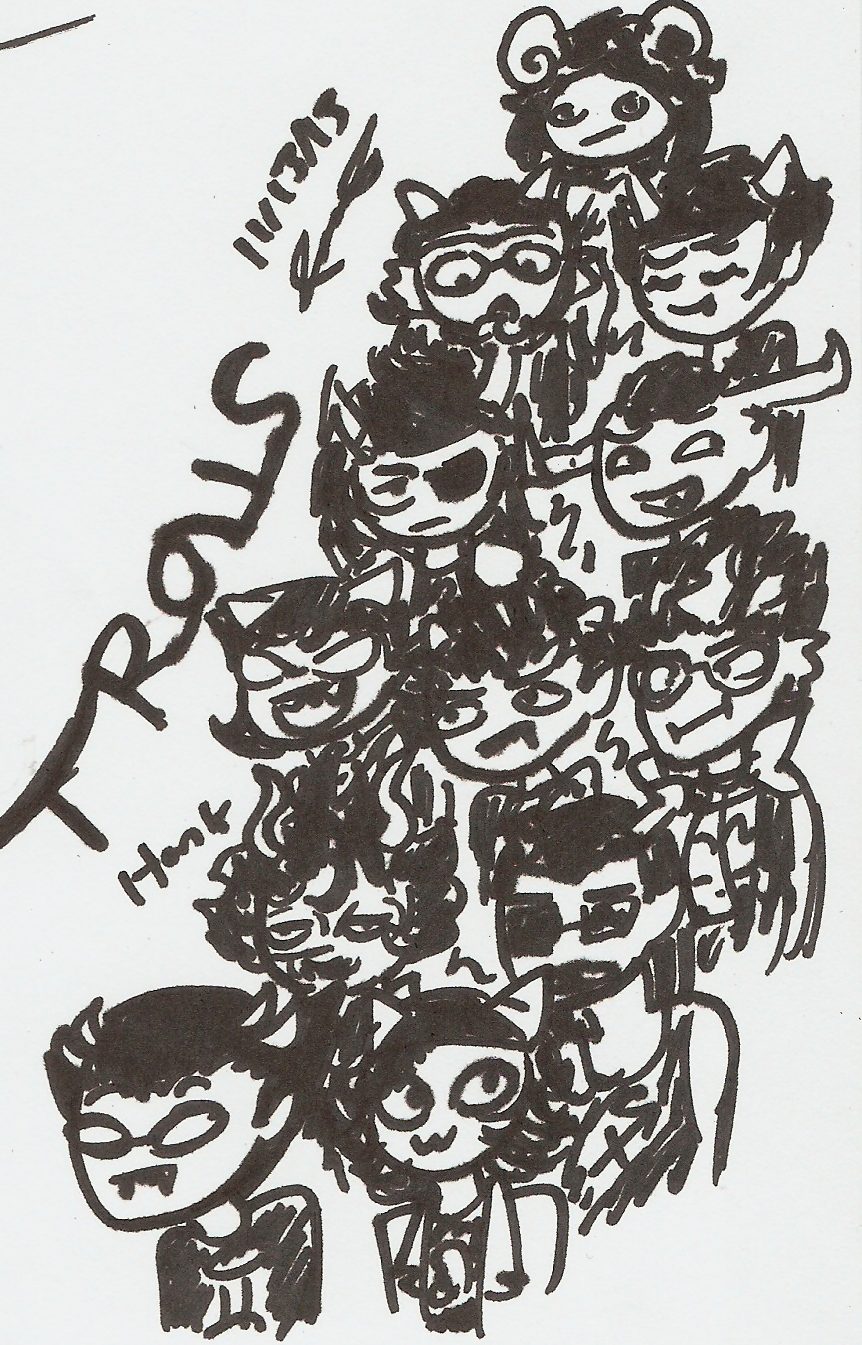 Tiny Sharpie Trolls by Mister-Saturn