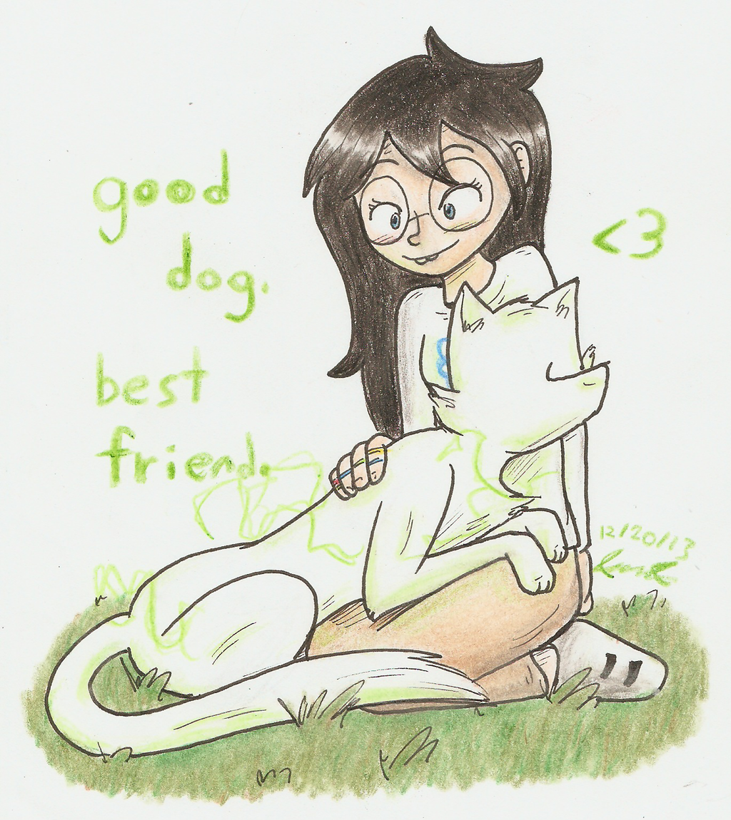 Good dog. Best friend. by Mister-Saturn