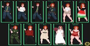 Fallout OC - Josianna Mayflower Canon Outfit Ref