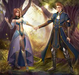 woodland romance by olei