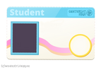 Blank Conterlot High Student ID Card Vector Base