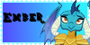 MLP Ember Stamp by midnightlunarose