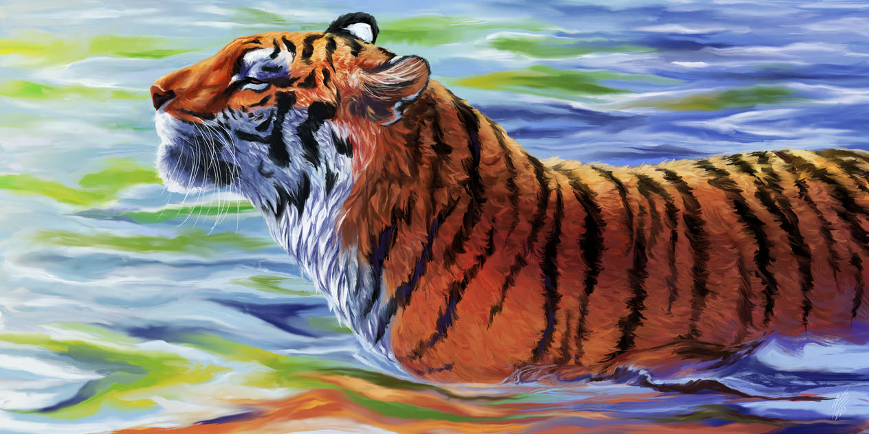 Tiger painting by Amayensis-Fireheart