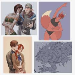 Sketch commission batch
