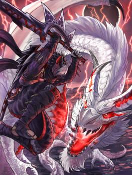 Elder Dragon White Fatalis - Monster Hunter