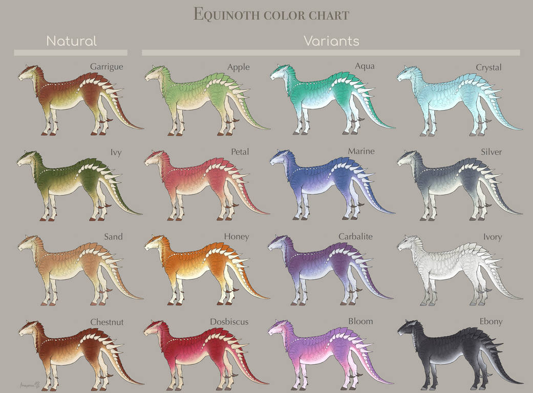 Equinoth color chart