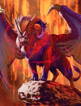 Demisehorn Teostra - fan-deviant - Monster Hunter