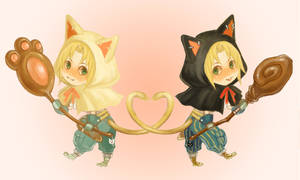 chibi kitty mages