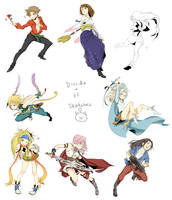 Dissidia sketches by f-wd