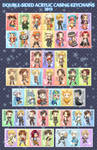 2013 Keychains + Buttons List by f-wd