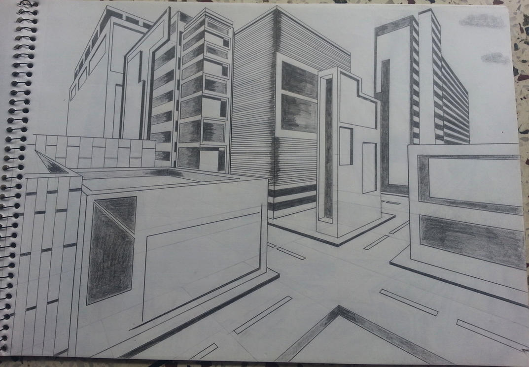 perspective drawings of buildings. 2 Point Perspective Buildings By Adityajoshi Drawings Of
