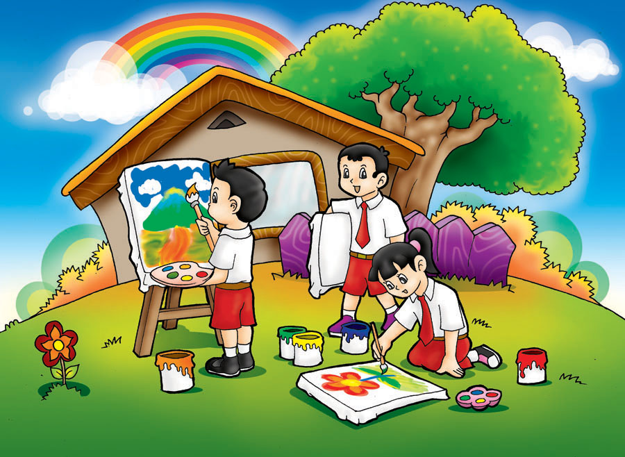 unduh 80 background kartun anak sekolah hd paling keren