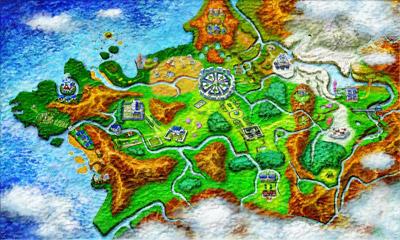 Kalos Region Map for Pokemon X and Pokemon Y