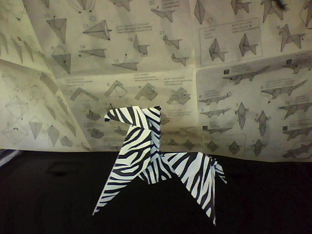 origami zebra for real by funquisha on deviantart