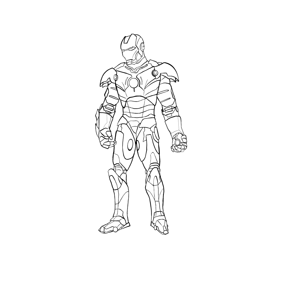 ironman no colour by ayyg ironman no colour by ayyg - Iron Man Pictures To Colour