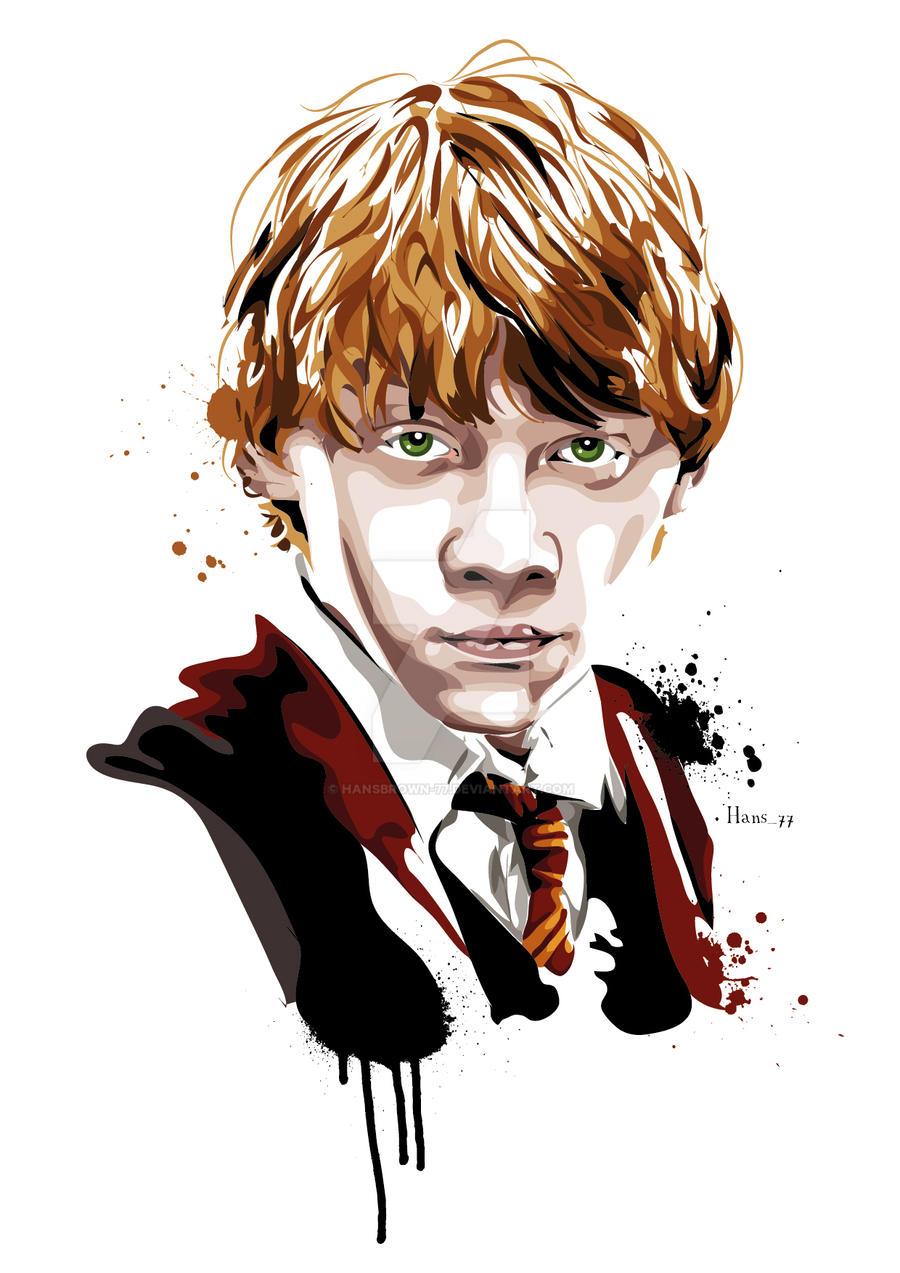Ron Weasley by hansbro... Rupert Grint Dead