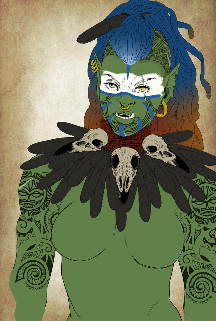 Maori Orc (WIP) by VanyPie