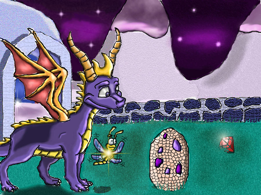 Spyro in The Midnight Mountain by dnsss