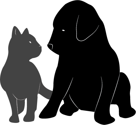 Cat And Dog Silhouette Vector