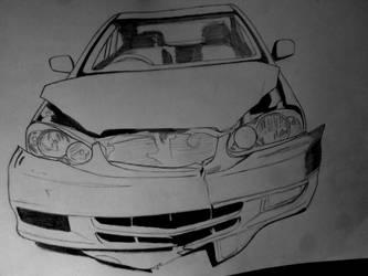 Wrecked Toyota Corolla  WIP 2 by osamashaikh