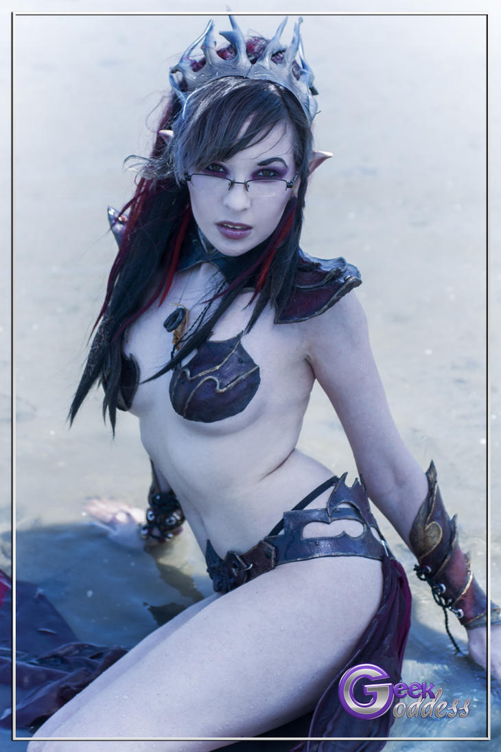 Winds of Chaos - Dark Elf Sorceress. by KassandraLeigh