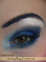 blue latex makeup tutorial by KassandraLeigh