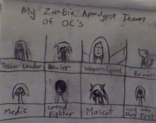 My Zombie Apocolypse Team-Of OC's! by PychopathicFangirl
