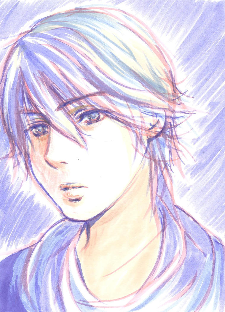 Speed drawing II - my OC Hayato by yoolin