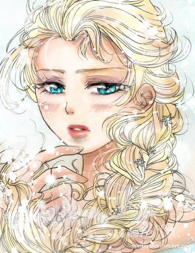 Elsa (Frozen) by yoolin