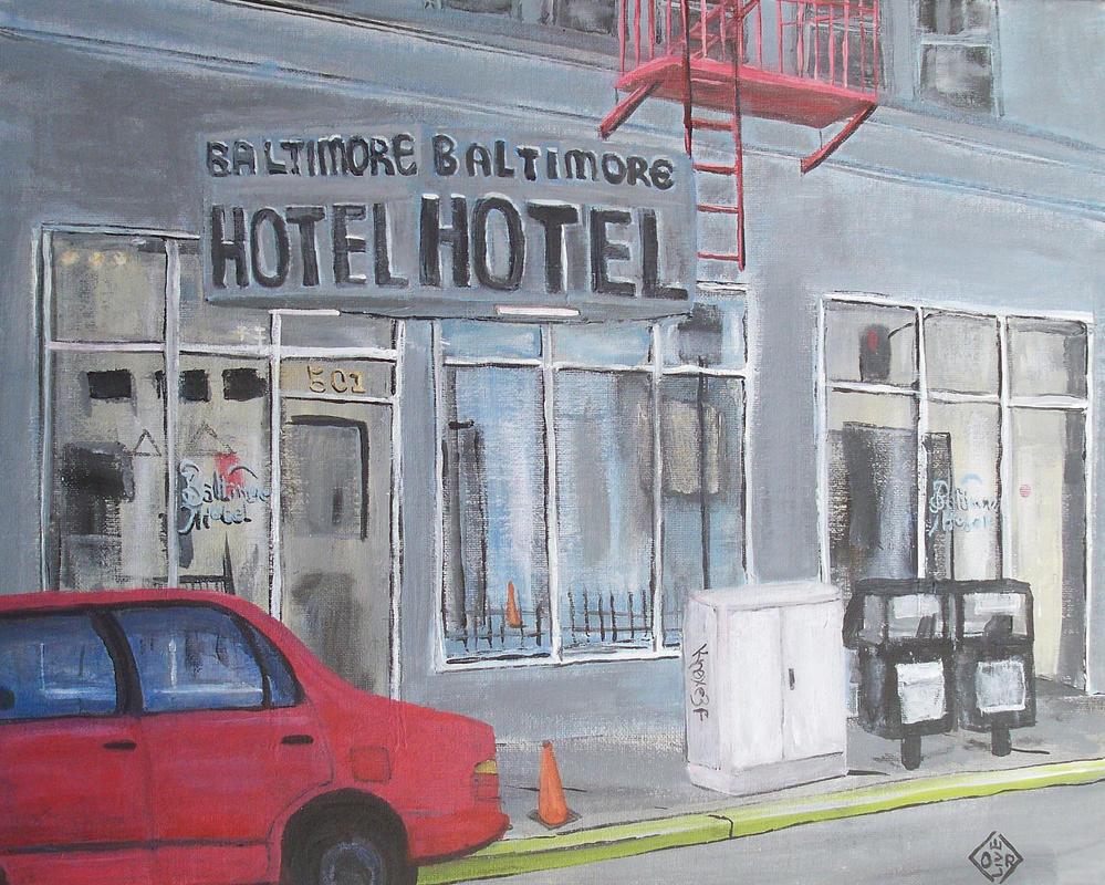 Baltimore Hotel by TomOliverArt